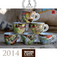 Ancap cappuccinokopjes Mundo Caffe - set van 6