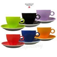 Maastricht porselein - Bart Colour - 6 cappuccinokopjes regenboog