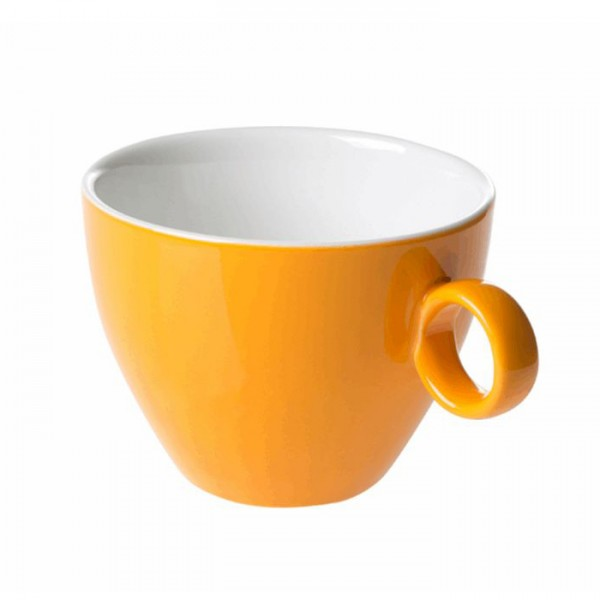 Cappuccinokopje - Maastricht porselein - Bart Colour - oker