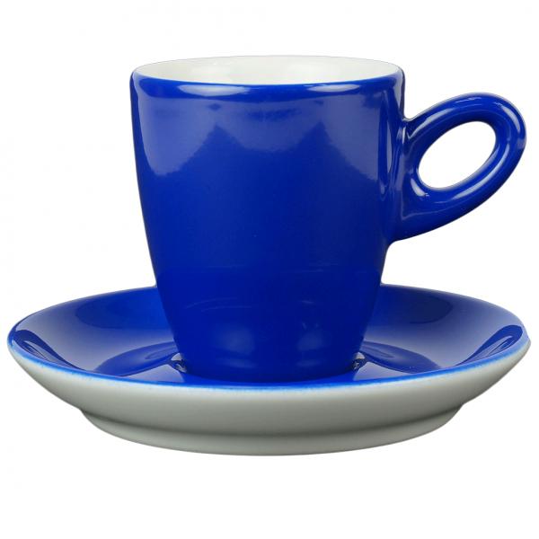Walkure alta koffiekopjes met schotel blauw