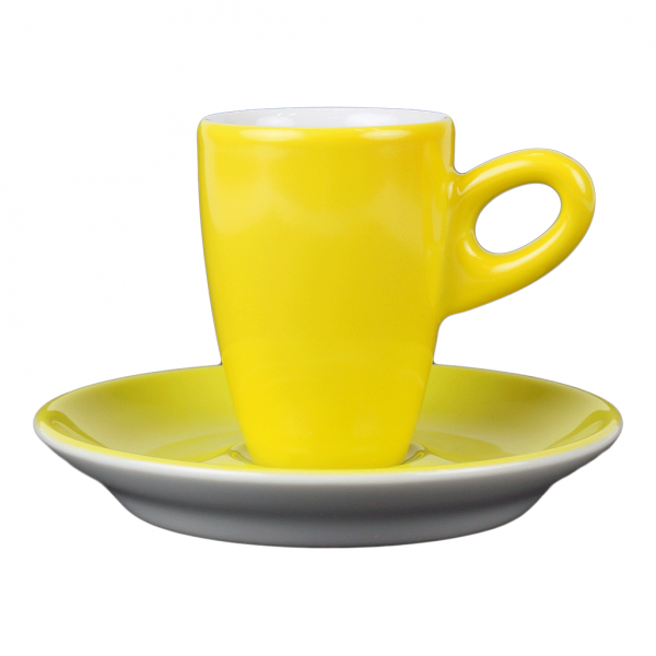 Walkure alta espressokopjes met schotel geel