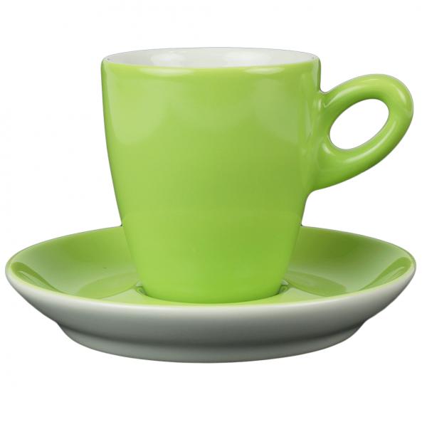 Walkure alta koffiekopjes met schotel groen