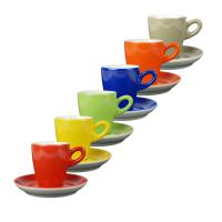 Walkure alta 6 koffiekopjes met schotel regenboog